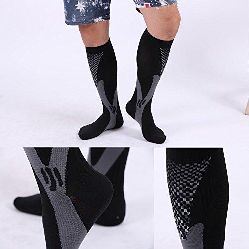 3 Pairs Compression Socks for Men and Women Graduated Athletic Socks for Sport Medical, Athletic, Edema, Diabetic, Varicose Veins, Travel, Pregnancy, Shin Splints, Nursing by Yodofa (Image #7)