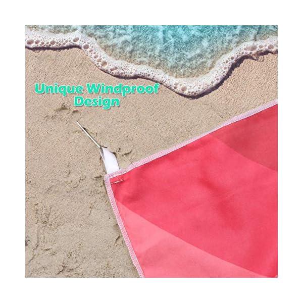 AGPTEK Telo Mare Microfibia Telo da Bagno per la Spiaggia Asiugamano Telo Antisabbia Super Assorbente Ideale per Le… 4 spesavip