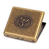 Bronzy Pure Copper Metal Cigarette Case Holder Holds 20 Cigarettes (Scorpion)