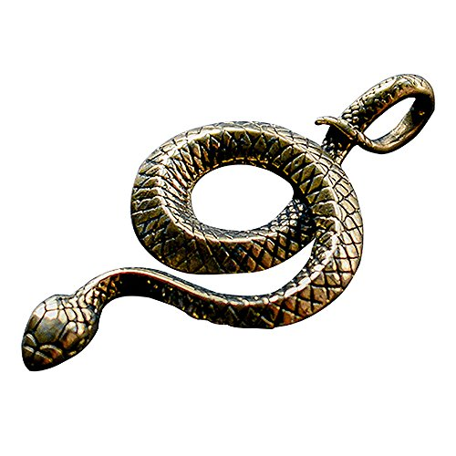 Boutique Keyring Brass Keychain Snake Copper Clothing Accessories Luck Key Jewelry Car Gift ()