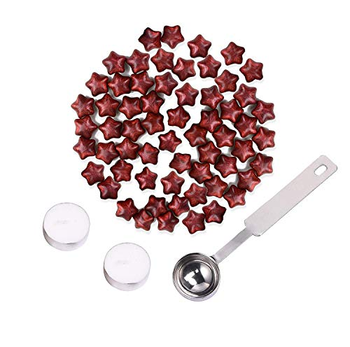 Fancy Chul Wax Seal Stamp, Star Wax,Sealing Wax for Postage Letter Retro Vintage Wax Seal Stamp (150pcs) (New Wine red)