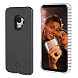 Selfie Light up Case for S9 Plus, FULLOPTO S9 Plus case with Selfie Light Rechargeable Battery and high Brightness Luminous Light Protection Cell Phone Case for Samsung S9 P (6.2 inch, Black)