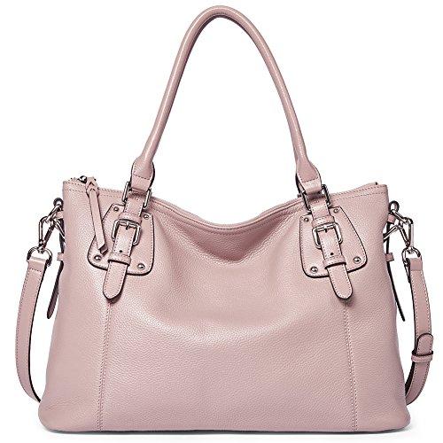 Pink Leather Handbags - 4