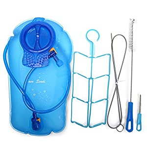 Baen Sendi Hydration Bladder 100oz/3 Liter - Water Reservoir - Water Bladder, Hydration Pack Bladder - Get 4pcs cleaning Kit(Blue, 100oz/3 L)