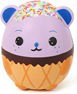 """Anboor 5.5"""" Squishies Jumbo Panda Egg Creamy Candy Ice Cream Slow Rising Scented Kawaii Squishies Animal Toy for Collection,1 Pcs"""