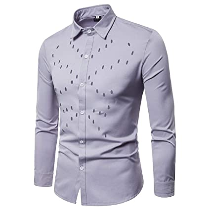 Amazoncom Easytoy Mens Dress Shirts Regular Fit Hollow