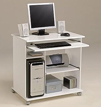 Computerschrank weiß  Computertisch weiss Pepe 1, 76x76x50cm, PC Tisch, Computerschrank ...