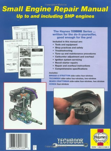 small engine repair manual haynes repair manual paperback rh amazon co uk Destroyer Flecher Haynes Manual Haynes Manual Pictures Back