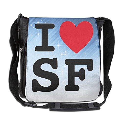 ZhiqianDF I Heart SF Handbag Cross Body Bag Messenger Sling Bag Shoulder - Shopping Ny Albany In