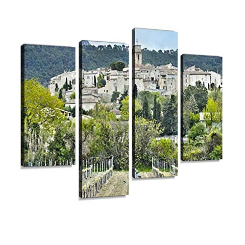 Wine Village in Provence, France Canvas Wall Art Hanging Paintings Modern Artwork Abstract Picture Prints Home Decoration Gift Unique Designed Framed 4 - Cote Village Rhone