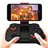 ANMKOT Wireless Bluetooth Game Controller Gamepad Joypad Joystick for Android Phone Samsung Gear VR, S6, S6 Edge, S7, S7 Edge, Note 5, Nexus, HTC, LG/Tablet PC iphone 6 6s Games with Clip