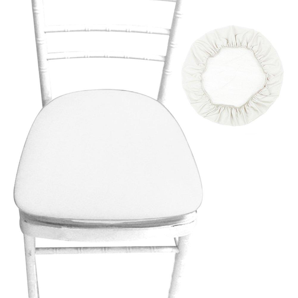 1PCS, Beige Coprisedili per sedie,Bloomma Fodera in poliuretano sfoderabile elastico in poliestere per sedie a sdraio Copripiumino rotondo in polistirolo per sala da pranzo Patio Sedia da ufficio,sgabelli da bar