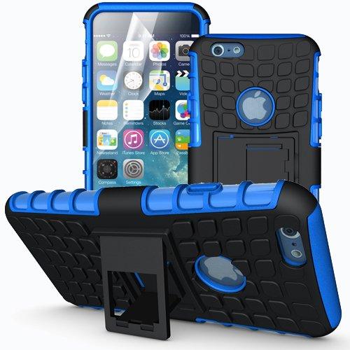 Apple iPhone 6 / 6S Outdoor Handy Tasche Blau Hybrid Case Schutz Hülle Panzer TPU Silikon Hard Cover Bumper I betterfon