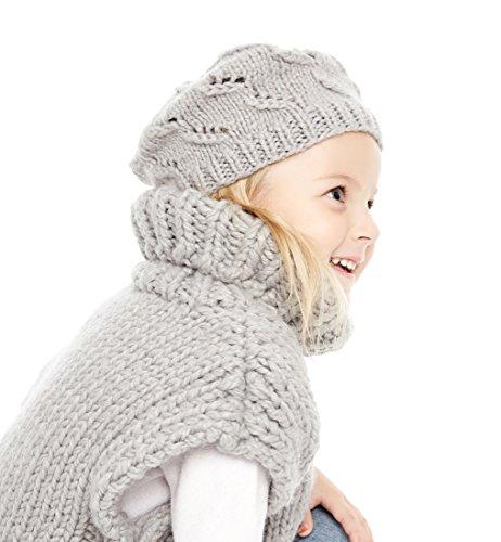 Sumolux Girl Knit Beret Beanie Crochet Pineapple Rib Crochet Warm Handmade Hat Cap