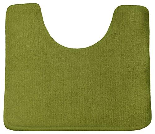 Clara Clark Non Slip Memory Foam Contour Bath, Shower Rug, 24 x 19 inches - Sage - Foam Bath Green