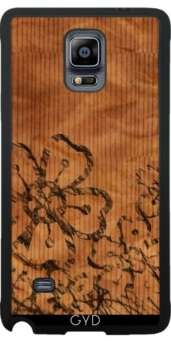 Funda de silicona para Samsung Galaxy Note 4 (N910) - Flor En La Madera by Warp9