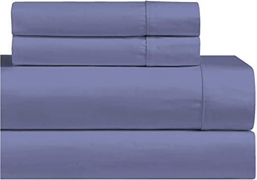 100/% Cotton 1000 Thread Count Bed Sheet Set Solid Deep Pocket Wrinkle Free Set