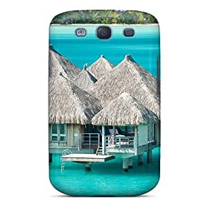 For Galaxy S3 Protector Case Water Bungalow Bora Bora St Regis Phone Cover