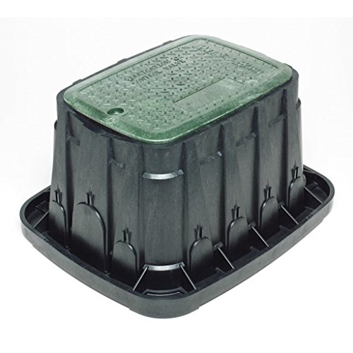 Rainbird Valve Box with Rectangular Body and Lid, Green (Water Valve Covers)