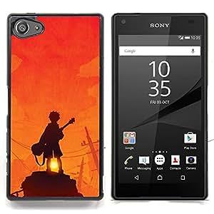Stuss Case / Funda Carcasa protectora - Guitarrista Sunset Roca Naranja - Sony Xperia Z5 Compact Z5 Mini (Not for Normal Z5)