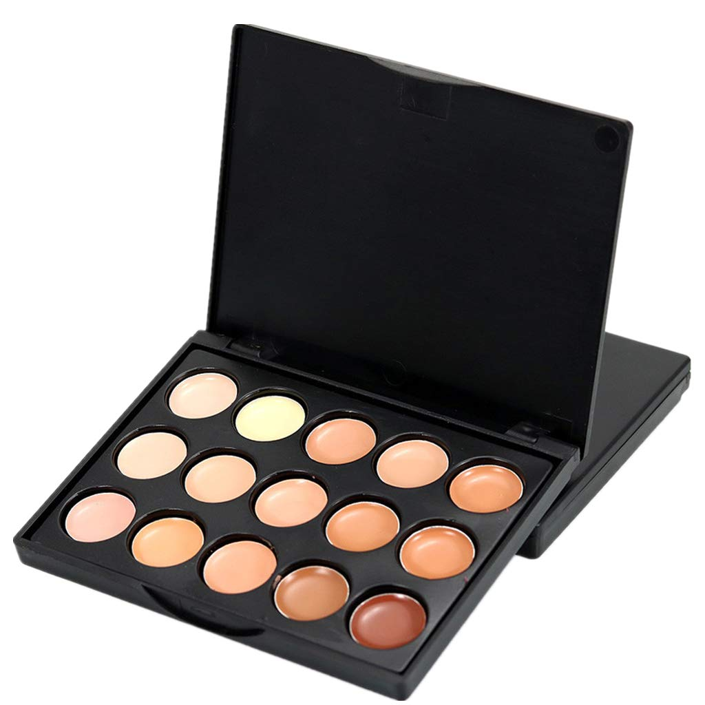 Amaping Flawless Contouring Kit 15 Colors Cream Foundation Camouflage Concealer Makeup Palette (B)