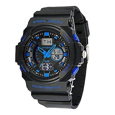 Auspicious beginning Men's multi-functions Outdoor Sports Waterproof Digital Electronic Watch