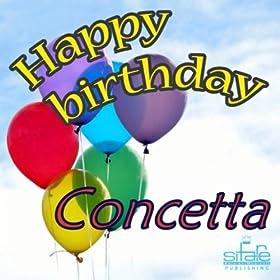 Amazon.com: Happy Birthday Concetta (Auguri Concetta