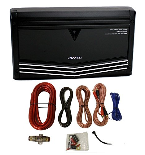 Kenwood KAC-9106D 2000W Monoblock Class D Car Audio Power Amplifier + Amp Kit (Kenwood 2000w Amp)