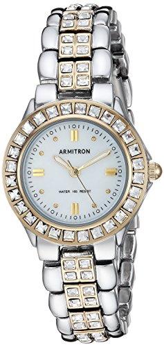 Watch Bling Swarovski - Armitron Women's 75/3689MPTT Swarovski Crystal Accented Two-Tone Dress Watch