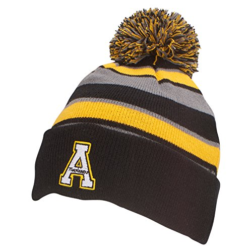 Ouray Sportswear NCAA Appalachian State Mountaineers Comeback Beanie, One Size, Black/Light Gold/Graphite