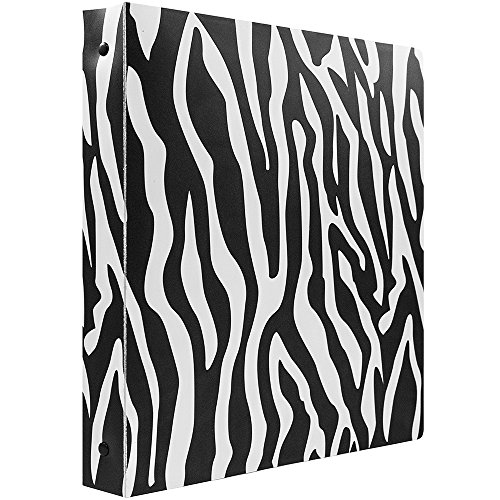 "JAM Paper Animal Print 3 Ring Binder - 1"" - Zebra - Sold Individually"
