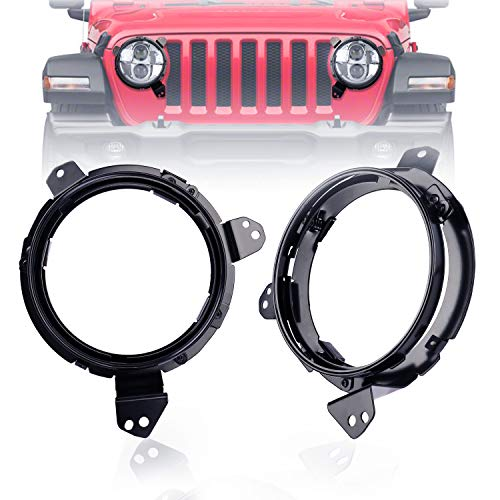 - Fannuo Jeep Headlight Mounting Bracket Stainless Steel Bracket Omni-Directional Adjust 7Inch Headlight Ring Mounting Bracket for 2018-2019 Jeep Wrangler JL