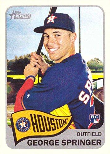 (2014 Topps Heritage Baseball #H557 George Springer Rookie Card)