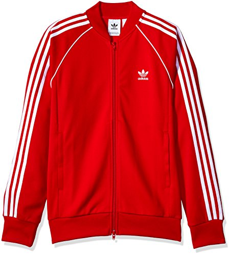 adidas Originals Men's Superstar Track Jacket, Scarlet, 2XL Adidas Court Star