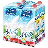 Almarai Low Fat Milk Screwcap With Vitamin, 4 x 1 Liter