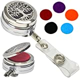 Decorative Aromatherapy Essential Oils Stainless Steel Diffuser ID Badge Holders (Tree of Life Belt Clip HD)
