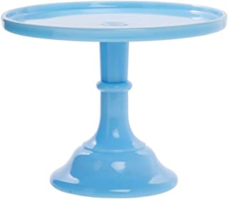 """product image for Mosser Glass Vintage Cake Stand Robin Egge Blue Glass - 9""""Dia x 7""""H"""