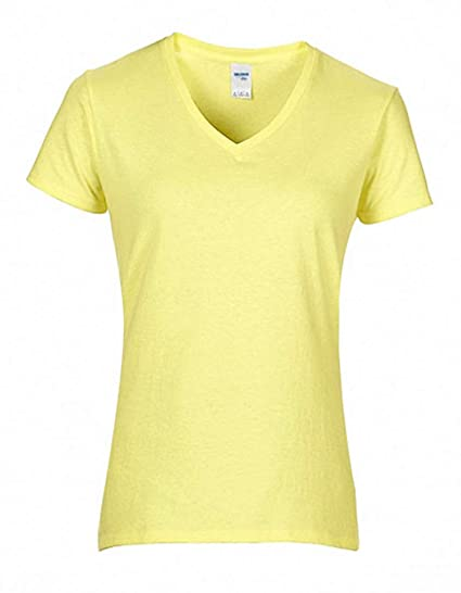 Premium Camiseta algodon® Mujer con cuello V mangas cortas: Amazon.es: Ropa y accesorios
