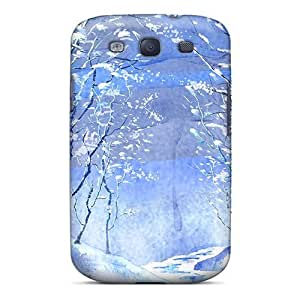 Premium Galaxy S3 Case - Protective Skin - High Quality For Watercolor Winter Wonderl by lolosakes