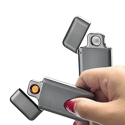 DIKAOU USB Portable Mini Electronic Rechargeable Lighters Windproof Electronic Flameless Lighter