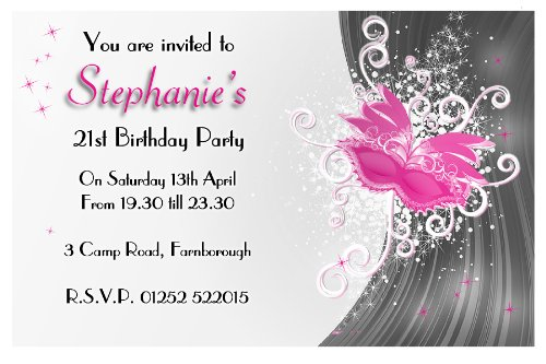 10 Personalised 18th 21st 30th Birthday Party Invitations Invites – Personalised 21st Birthday Invitations