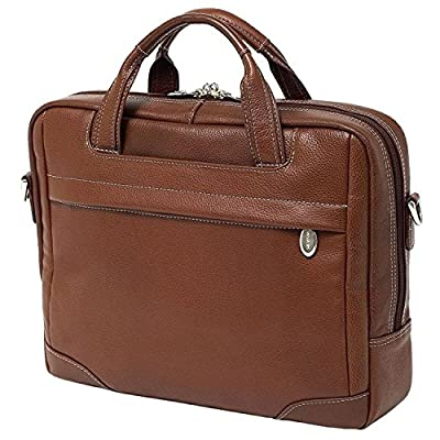 60%OFF Brown Litigator Briefcase Leather Solid Business Softsided Zipper Attachment