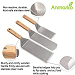 Professional Spatula Set - Stainless Steel Pancake Turner and Griddle Scraper 4x8 inch Oversized Hamburger Turner Great… 7 ✅ STAINLESS STEEL SPATULA SET - includes 1 x cooking spatula turner, 1 x grill spatula, 1 x griddle scraper . Great for use as pancake turner, fish turner spatula, griddle spatula, kitchen spatula. ✅ PROFESSIONAL QUALITY - spatulas and scraper are good for use by professional chefs in restaurants and food shops as well as griddle grill accessories set for your kitchen or backyard barbecue ✅ MADE FROM STURDY STAINLESS STEEL - non-reactive, hygienic and durable . Spatula stainless steel blade thickness is 1/25 inch.
