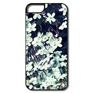 IPhone 5S Case, Tiny White Flowers White/black Cover For IPhone 5