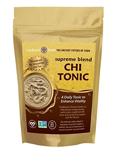CHI TONIC for Energy and Vitality. Pure Chinese Herbs- No Fillers. Mix in Smoothies & Tea. Pre-workout Superfoods Powder - Vegan, All Natural, Non-GMO, Sugar Free & Gluten - Chinese Tonic