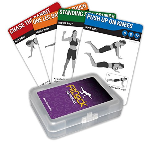 Fitdeck Exercise Playing Cards for Guided Workouts, Postnatal by FitDeck