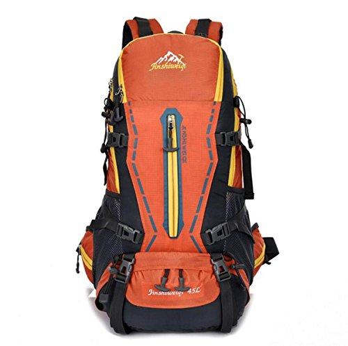 LQABW Al Aire Libre Del Alpinismo Que Va De Excursión De Los Hombres Y De Las Mujeres Del Paquete De Gran Capacidad De Excursión El Bolso 55L,DarkBlue Orange
