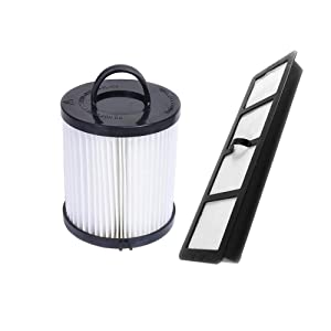 SaferCCTV Replacement EF6 HEPA Exhaust Filter and Vacuum Dust Cup Filter DCF-21 Replaces Part # 67821, 68931, 68931A, EF91 for Eureka Airspeed AS1000 Series Upright Vacuum Cleaners