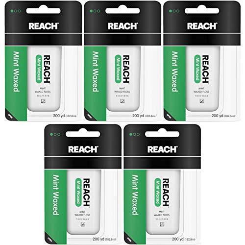 Reach Mint Waxed Floss 200 Yards each, Pack of 5 -
