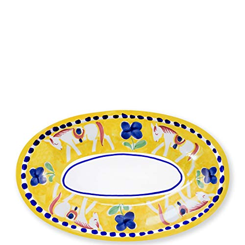 Vietri Cavallo Small Oval Tray - Campagna Collection (Fiesta Oval Platter Serving)